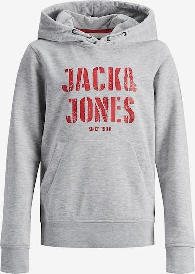 Jack & Jones Junior Sweatshirt in graumeliert / rot, Produktansicht