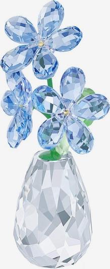 Swarovski Dekofigur 'Flower dreams - forget-me-not' in hellblau / grün / transparent, Produktansicht