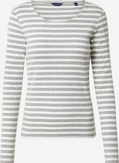 GANT T-shirt en gris / blanc: Vue de face
