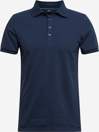 s.Oliver BLACK LABEL Poloshirt in navy, Produktansicht