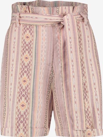 Juna Lane Taillierte Strandshorts mit Bundfalten in hellgrau / apricot / rosé, Produktansicht