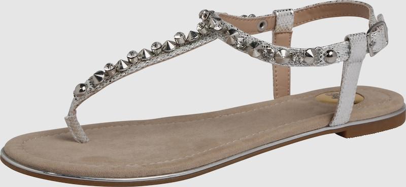 BUFFALO | Sandalen mit Ziersteinbesatz