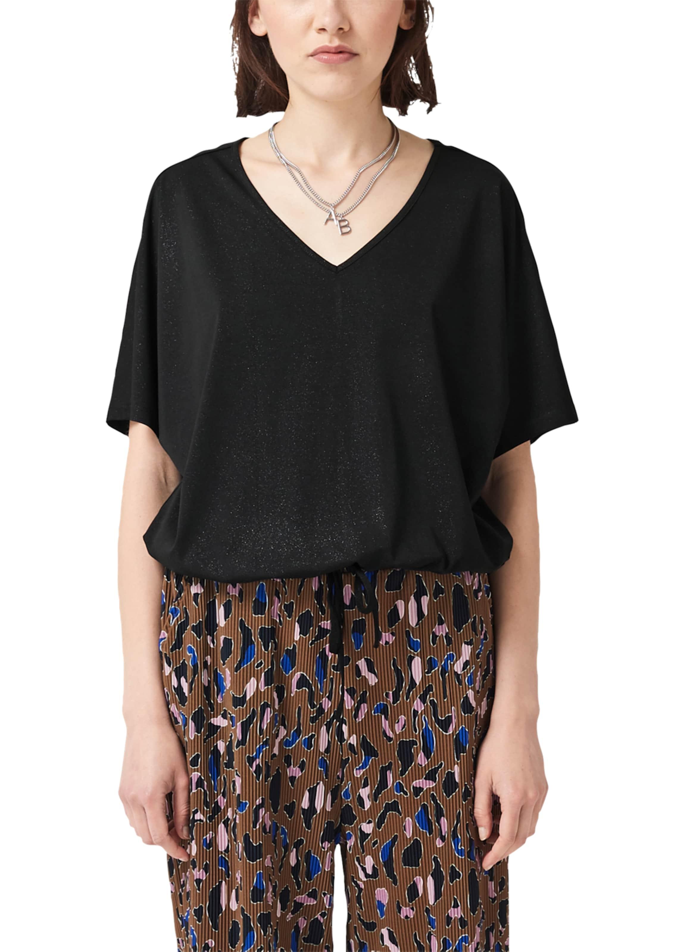 By Designed Q shape Cropped s shirt In O Schwarz USMVzp