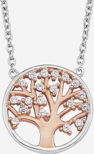 AMOR Kette mit Anhänger 'Lebensbaum' in rosegold / silber, Produktansicht