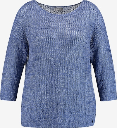 SAMOON Pullover in cyanblau, Produktansicht