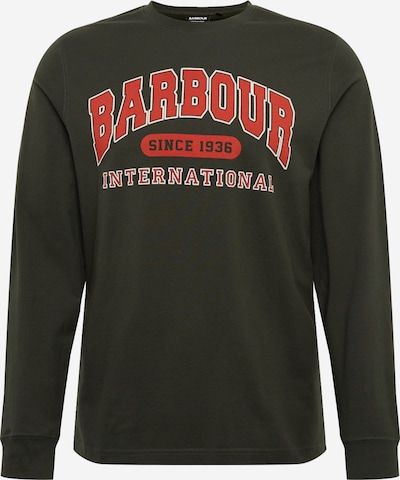 Barbour International Shirt 'Collegiate' in oliv / hellrot, Produktansicht