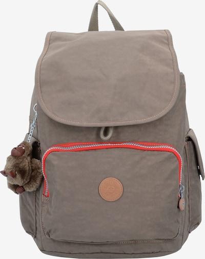 KIPLING Basic City Pack 18 Rucksack 37 cm in hellbeige / dunkelbeige / rot, Produktansicht