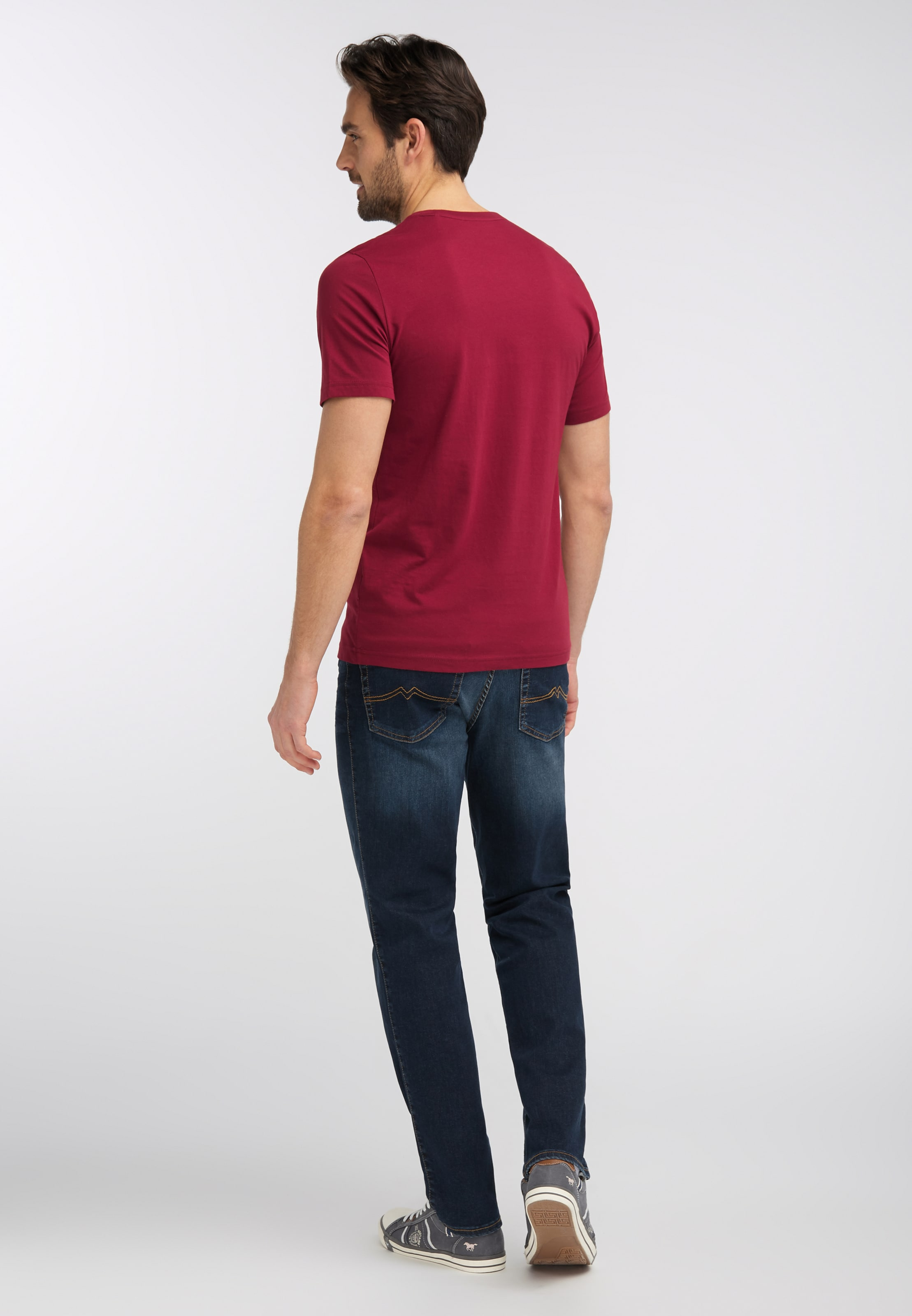 T DunkelblauDunkelrot 'logo In Mustang shirt Tee' Weiß BoQrdCxEWe