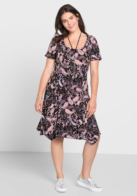sheego casual Kleid mit Paisley-Muster