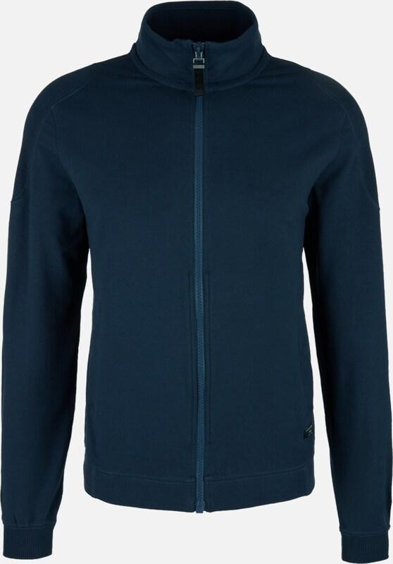 S.Oliver rot LABEL Sweatjacke in dunkelblau  Neue Kleidung in dieser Saison