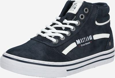 MUSTANG Sneaker in navy / weiß: Frontalansicht