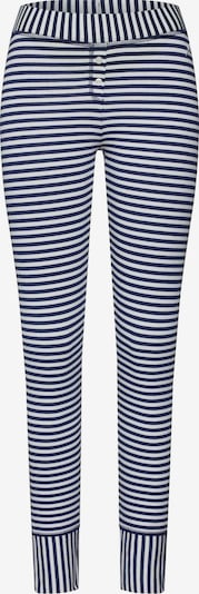 Short Stories Pantalon de pyjama en bleu foncé / blanc, Vue avec produit