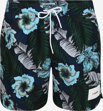 Calvin Klein Swimwear Badeshorts 'MEDIUM DRAWSTRING-PRINT' in blau, Produktansicht
