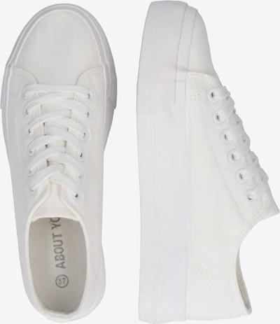 ABOUT YOU Sneaker 'Eda' in weiß: Seitenansicht