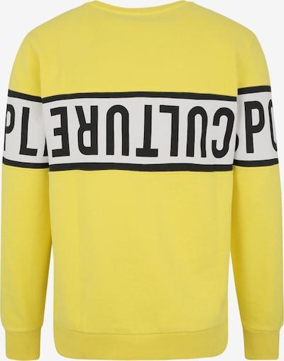 CHIEMSEE Sportsweatshirt in gelb / schwarz: Rückansicht