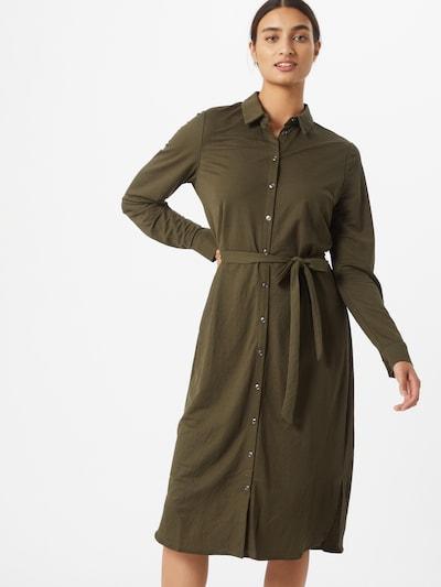 VILA Košilové šaty 'SAFINA' - khaki: Pohled zepředu
