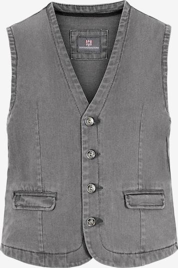 Jan Vanderstorm Bodywarmer 'Torell' in de kleur Grey denim, Productweergave