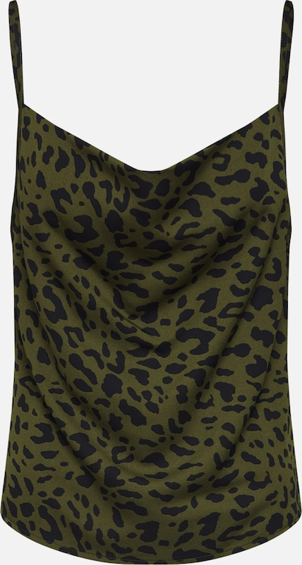 4th & Reckless Top 'Beauty' in khaki / schwarz, Produktansicht