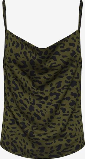4th & Reckless Top 'Beauty' in khaki / schwarz, Produktansicht