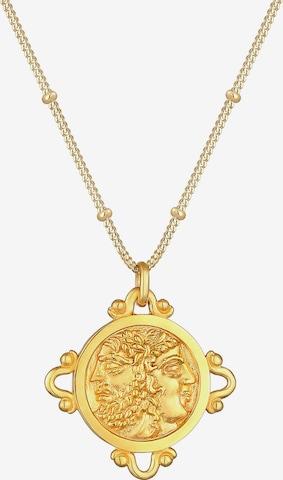 ELLI Halskette Münze, Vintage in Gold