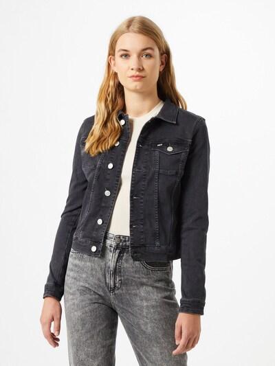 Tommy Jeans Prehodna jakna 'Vivianne Trucker Brbk' | črn denim barva: Frontalni pogled