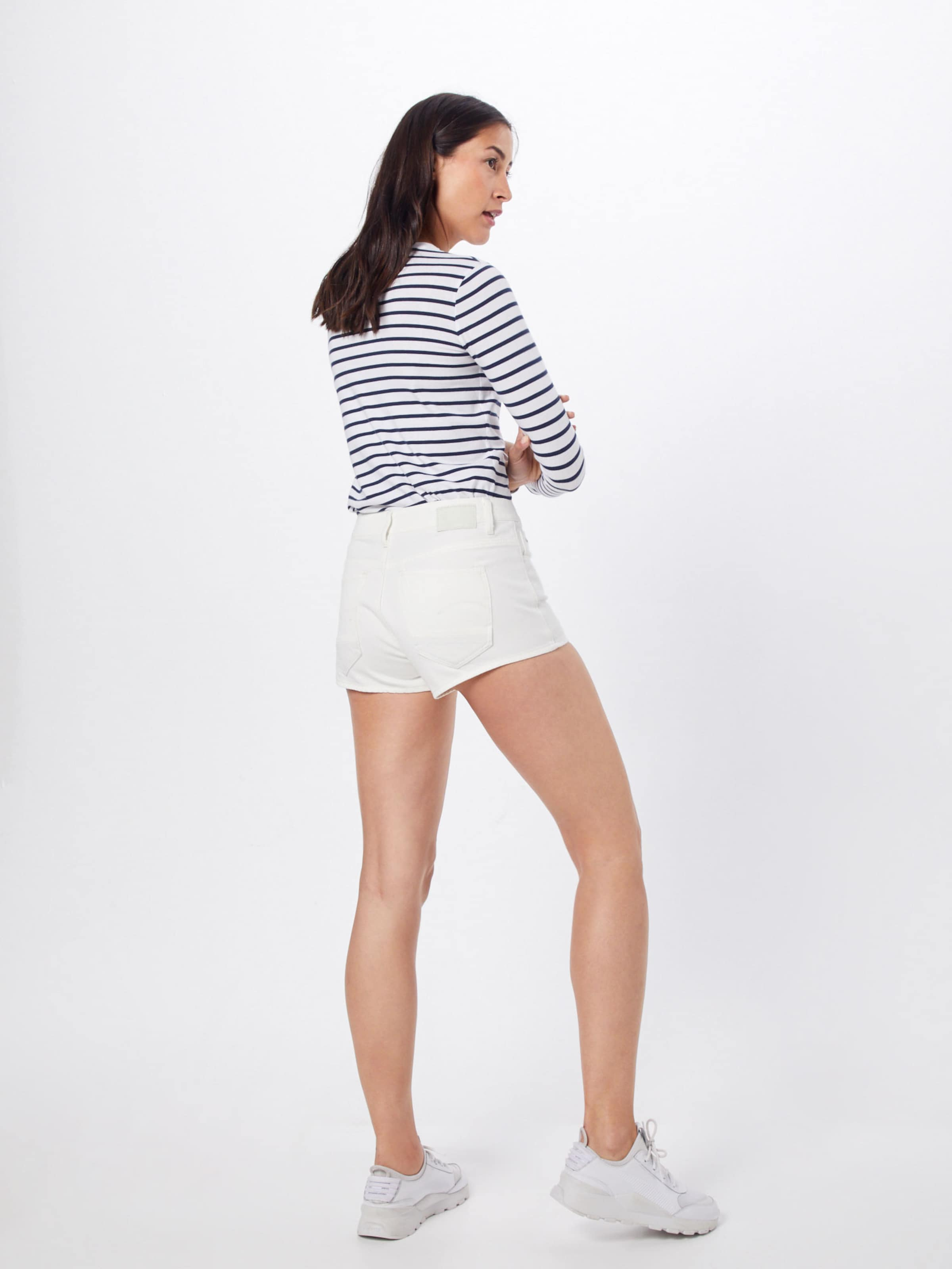 'arc Btn Short 0 Raw Jean G star En Wmn' 2 Blanc nOy8vwN0mP