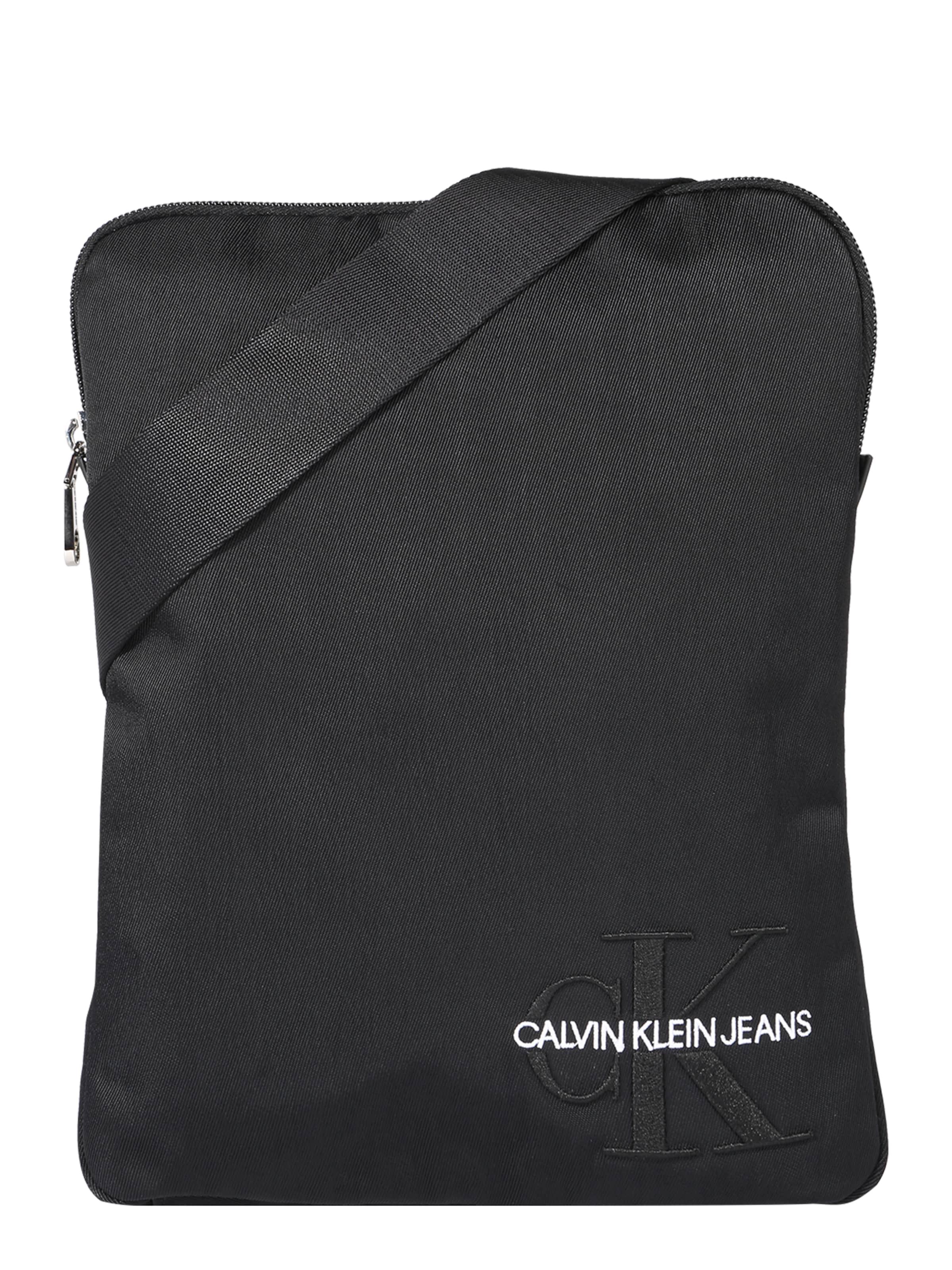 Flatpack' Klein In Schoudertas 'monogram Nylon Zwart Calvin nP0wOk8
