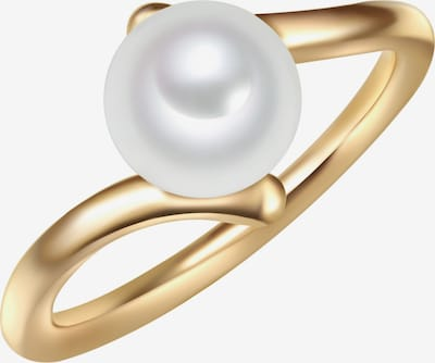 Valero Pearls Ring in gold / perlweiß: Frontalansicht
