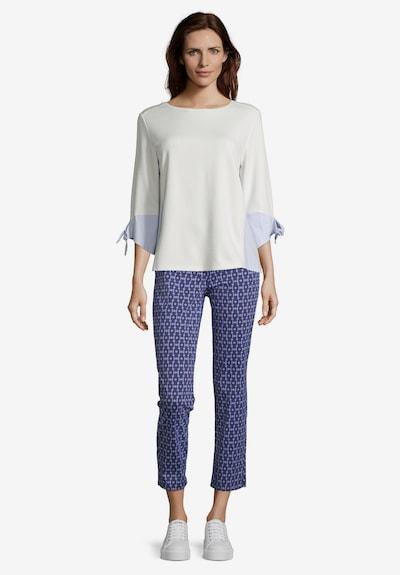 Betty Barclay Sweatshirt mit Webbesatz in creme / hellblau: Frontalansicht