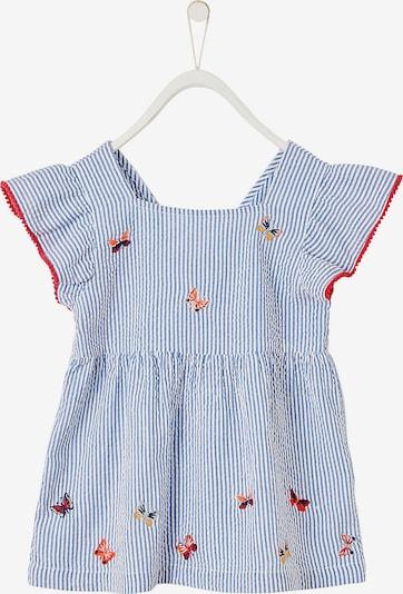 VERTBAUDET Kinder Bluse in hellblau / hellrot / weiß, Produktansicht