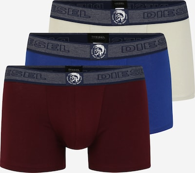 DIESEL Trunks in blau / grau / bordeaux, Produktansicht