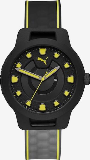 PUMA Quarzuhr 'RESET V1, P5025' in neongelb / schwarz, Produktansicht