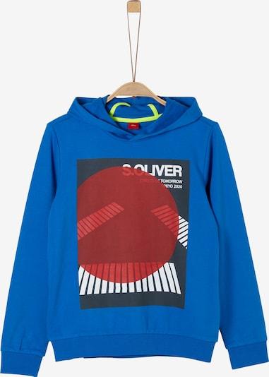 s.Oliver Sweatshirt in blau / rot / schwarz, Produktansicht