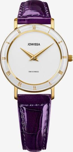 JOWISSA Quarzuhr 'Roma' Swiss Ladies Watch in gold / lila / weiß, Produktansicht