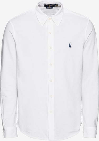 POLO RALPH LAUREN Hemd 'FEATHERWEIGHT MESH-LSL-KNT' in weiß, Produktansicht