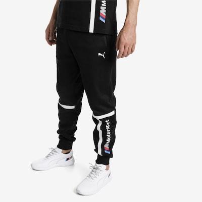PUMA Pants 'BMW M' in schwarz / weiß: Frontalansicht