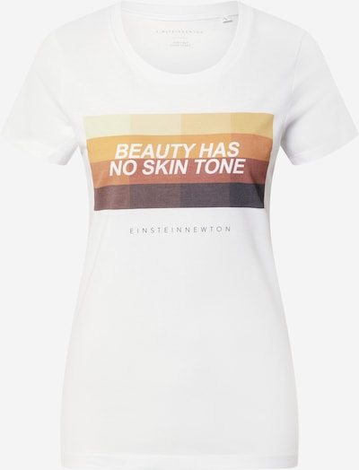 EINSTEIN & NEWTON T-Shirt 'Beauty' in braun / gelb / orange / weiß, Produktansicht