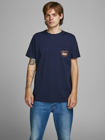 JACK & JONES Shirt in de kleur Enziaan: Vooraanzicht