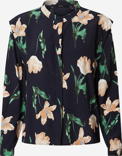 Vero Moda Petite Blouse 'Betty' in Navy / Brown / Green, Item view