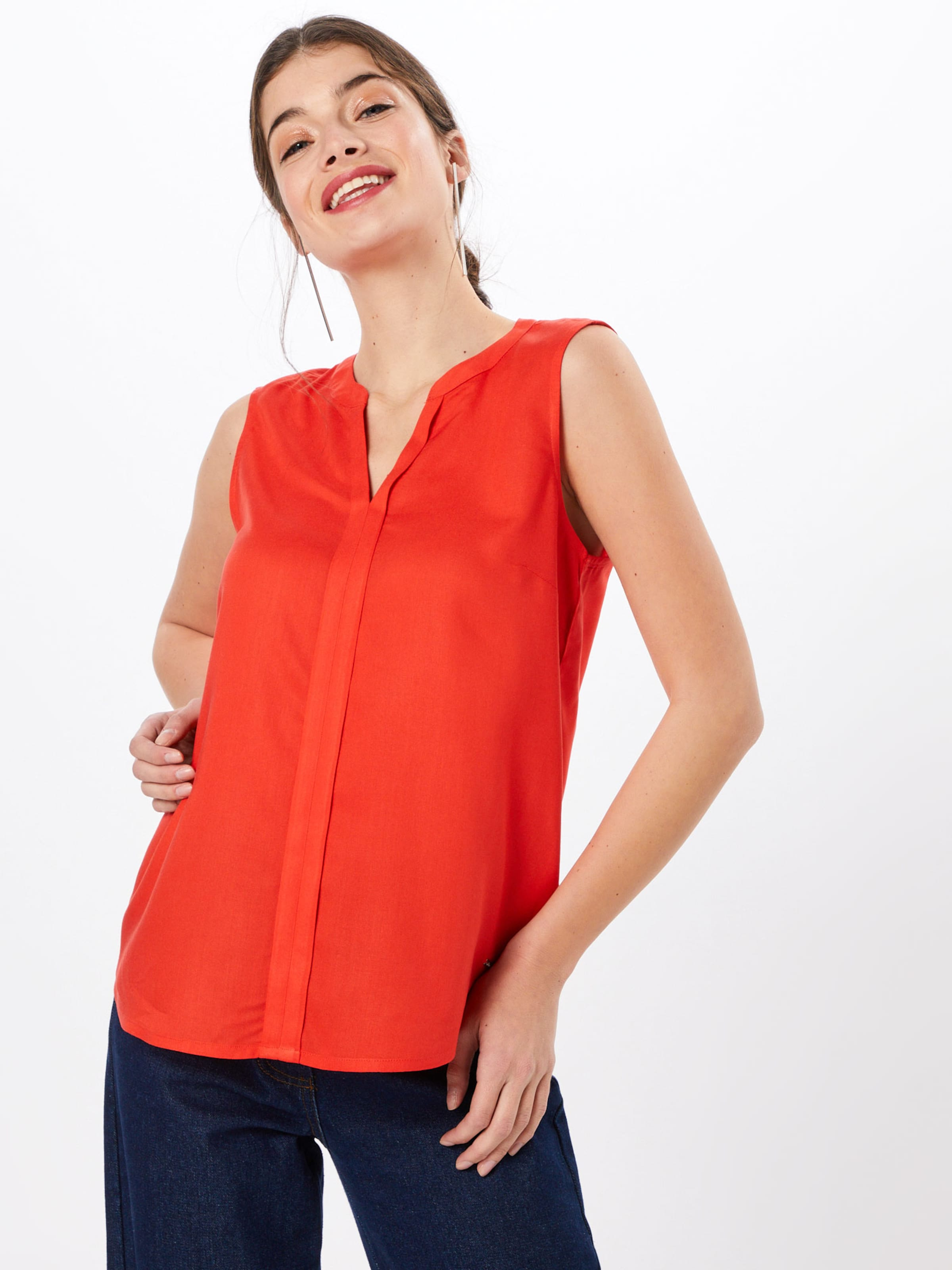 Orangerot Tom Denim Bluse Tailor In 0wknOP8X