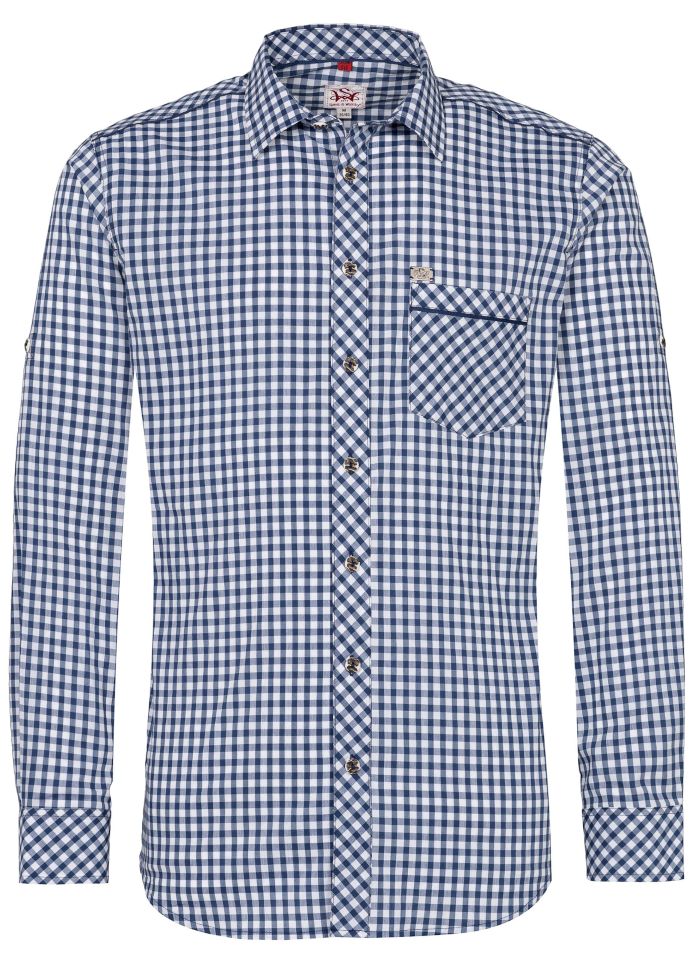 'guttenberg' Wensky Weiß Hemd In RauchblauDunkelblau Spiethamp; srtdChQ