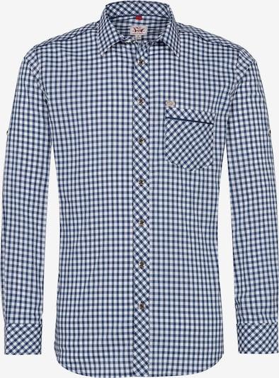 SPIETH & WENSKY Hemd 'Guttenberg' in rauchblau / dunkelblau / weiß, Produktansicht