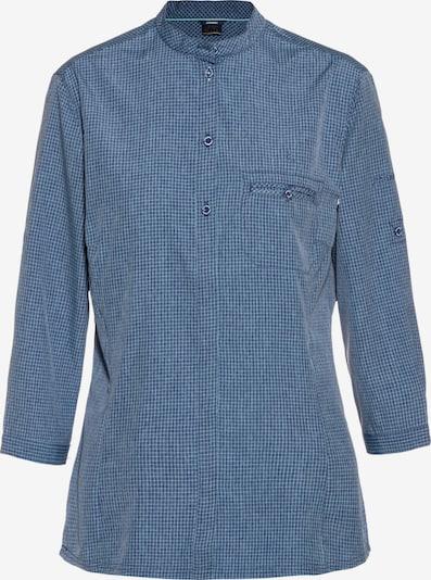 Schöffel Bluse 'Mendoza' in taubenblau / weiß, Produktansicht