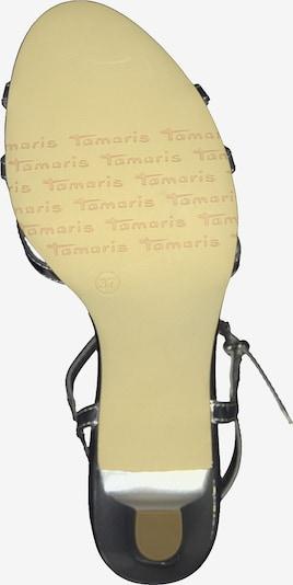 TAMARIS Sandale in silber: Ansicht von unten