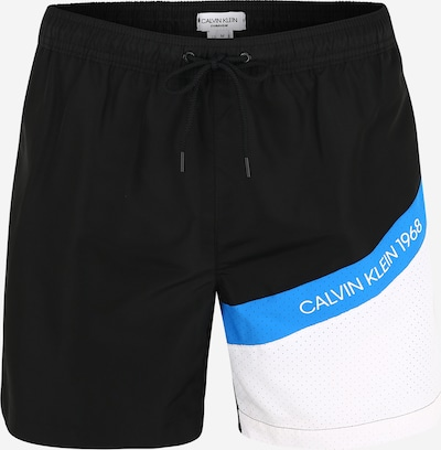 Calvin Klein Plavecké šortky - světlemodrá / černá / bílá, Produkt
