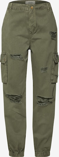 NEW LOOK Cargobroek 'MALIBU DESTROY CARGO JOGGER' in de kleur Kaki, Productweergave