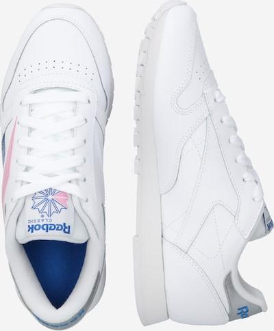 Reebok Classic Sneaker in blau / rosa / weiß: Seitenansicht