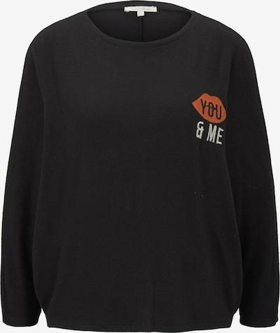 TOM TAILOR DENIM Shirt in rot / schwarz / weiß, Produktansicht