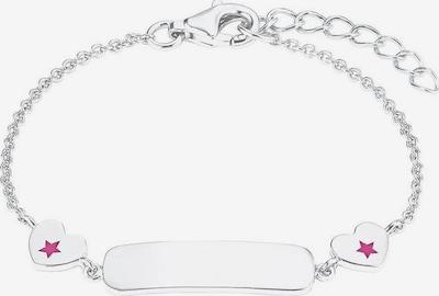 PRINZESSIN LILLIFEE Silberarmband in pitaya / silber, Produktansicht