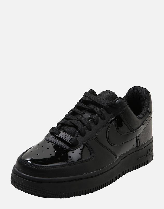 nike air force weiß schwarz glänzend